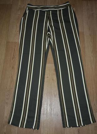 Cтильные шелковые брюки в полосочку