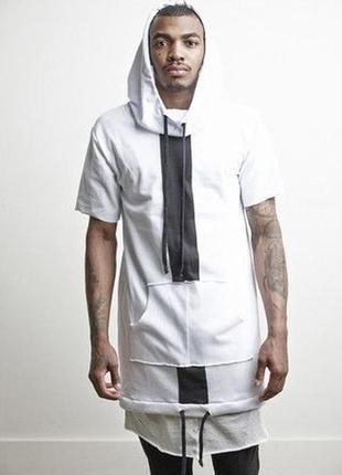 Удлинённая худи футболка мужская хл knomadik