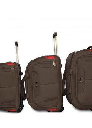 Дорожная сумка на 2 колесах fly 2611 шоколад