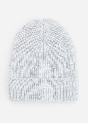 Красивая шапка бини reserved на подкладке