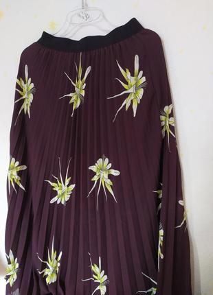 Цветочная юбка плисе h&m