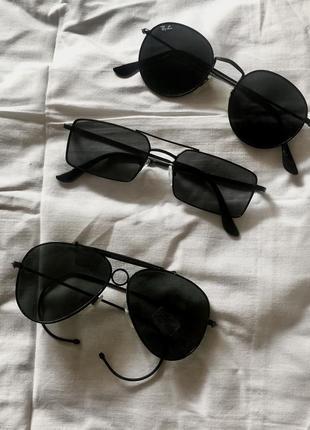 Солнцезащитные очки авиаторы, квадратные, круглые