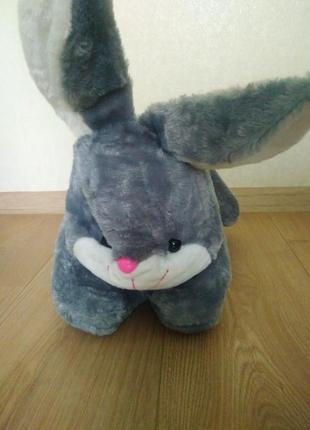 Подарунковий набір плед + іграшка зайчик/ детский набор игрушка с пледом внутри