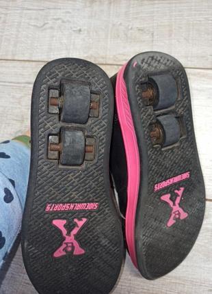 Ролики роликовые кроссовки sidewalk sport скейтера heelys4 фото