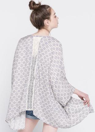 Крутая накидка кимоно пончо кружево