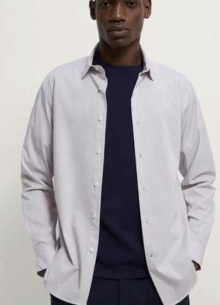 Zara зара оригинал рубашка сорочка slim полочку классическая полосатая