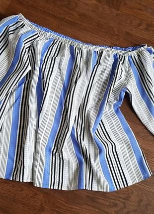 Легка літня блуза  вполоску рapaya18