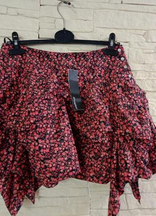 Летняя женская юбка х/б в стиле прованс
