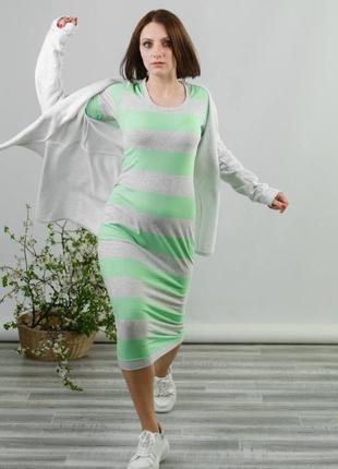 Натуральное базовое хлопковое платье md vera