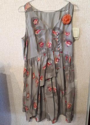 Элегантное шелковое платье беби-долл