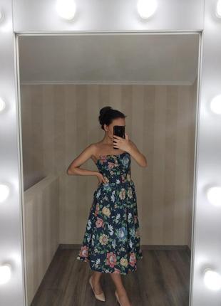 Платье крупные цветы