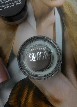 Кремовые матовые тени color tattoo 24 hour