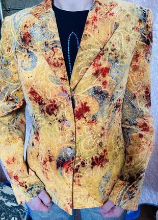 Пиджак жакет солнечного цвета франция