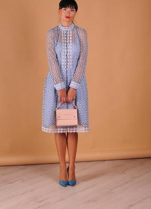 Гипюровое дизайнерское платье ,натуральные ткани