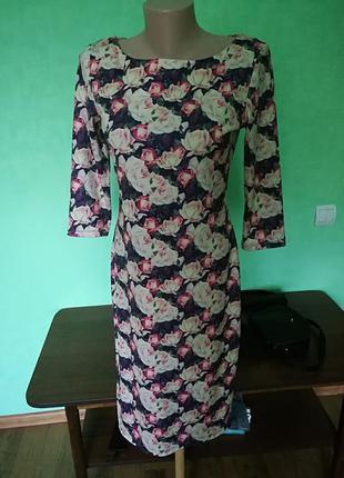 Классическое платье, цветочный принт