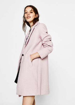 Новое шерстяное пальто bershka осень зима 2017 2018 xs,s,m,l оверсайз oversize