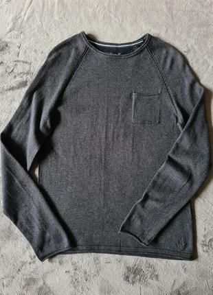 Мужской коттоновый свитер лонгслив marc o polo