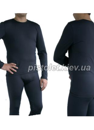 Джемпер чоловічий bavovna чорний термобілизна термокофта термокостюм термобелье спорт