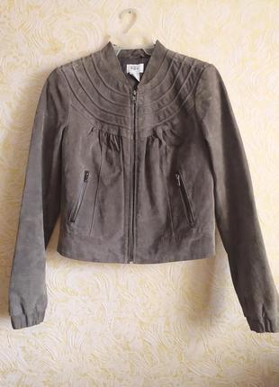 Бомбическая замшевая куртка-блмбер 100%замш от b.p.c.