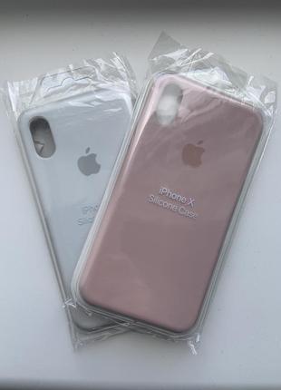 Чехол silicone caseдля iphone x