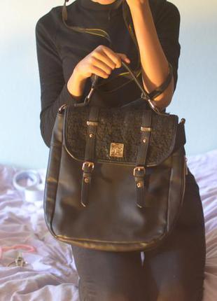 Сумка-рюкзак с кружевом