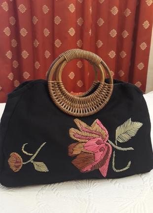 Оригінальна сумка bhs з натуральних матеріалів