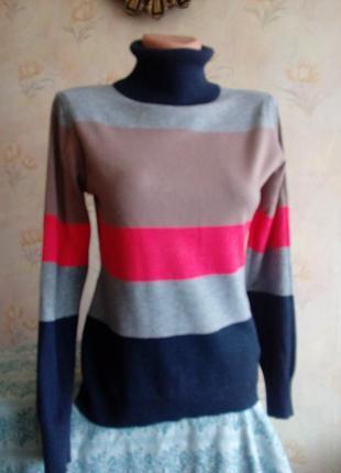 Комфортный свитерок в полоску