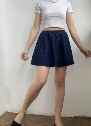 Синяя юбка-солнышко