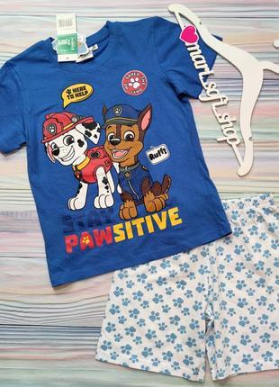 Летняя пижама с щенячьим патрулем disney р. 8 лет