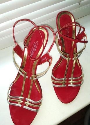 Босоножки, туфли, шлёпки, на каблуке, с завязками