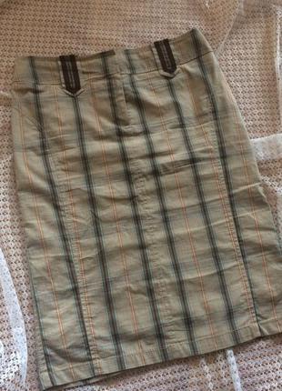 Шикарная стильная миди юбка карандаш в клетку karen millen