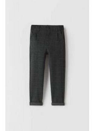 Брэндовы штаны брюки в клетку для мальчика zara испания zara