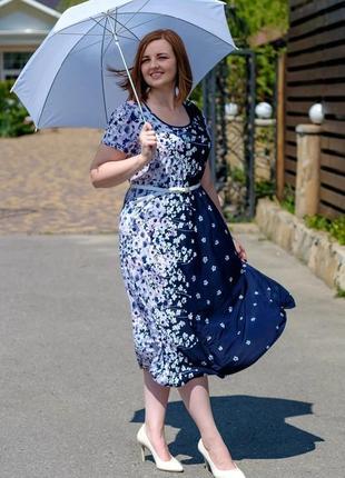 Женское летнее платье большого размера виола