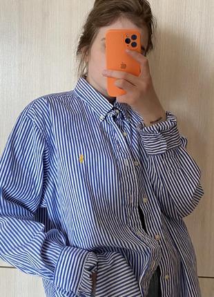 Винтажная рубашка polo ralph lauren