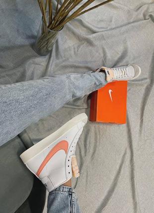 Женские кроссовки nike blazer mid '77 peach3 фото