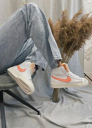 Женские кроссовки nike blazer mid '77 peach4 фото