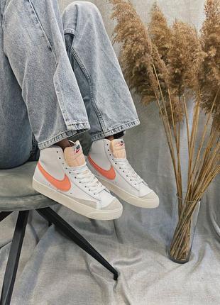 Женские кроссовки nike blazer mid '77 peach