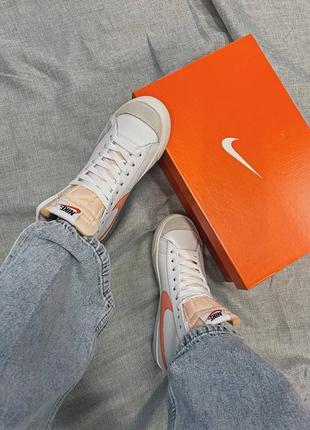 Женские кроссовки nike blazer mid '77 peach2 фото