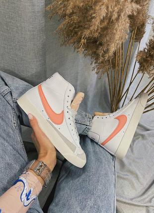 Женские кроссовки nike blazer mid '77 peach10 фото