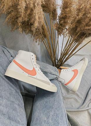 Женские кроссовки nike blazer mid '77 peach9 фото