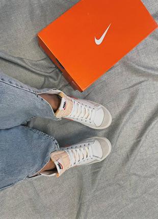 Женские кроссовки nike blazer mid '77 peach7 фото