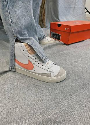 Женские кроссовки nike blazer mid '77 peach5 фото