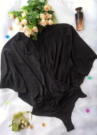 Черный боди asos на запах4 фото