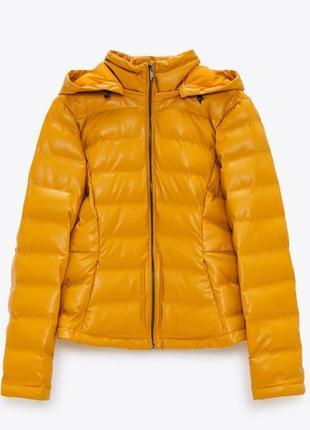Куртка zara искусственная кожа