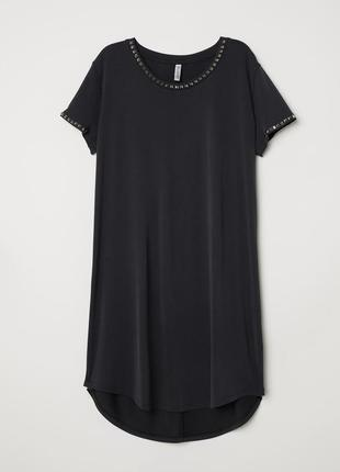 Короткое платье-футболка из мягкого трикотажа