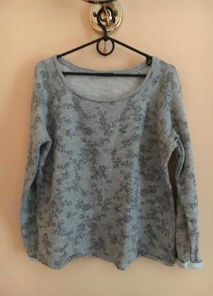 Классный стильный свитшот кофта толстовка худи серый весенний