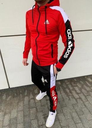 Спортивний костюм adidas 2021 мужской красний, желтый, белый, синий, зеленый, черный.