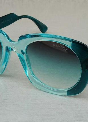 Gucci очки женские солнцезащитные сине бирюзовые с градиентом