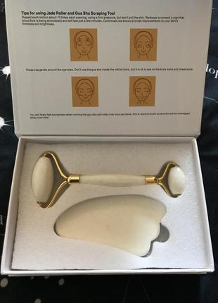 Набір для масажу гуаша ролик і скребок