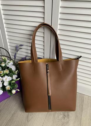 Большая женская стильная сумка ,плечевые ручки ,помещается формат а4